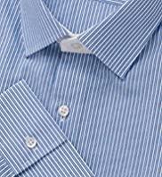 "2"" Longer Autograph Luxury Slim Fit Pure Cotton Twin Striped Shirt"