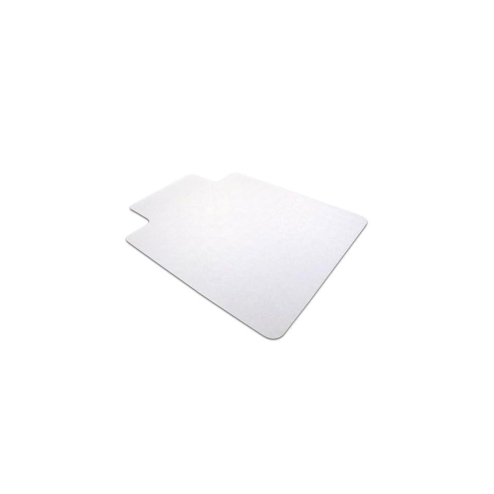Cleartex AdvantageMat PVC Chair Mat for Hard Floors   Wood, Tile, Linoleum or Vinyl, Clear 60 x 46 Inches, (1215020LV)