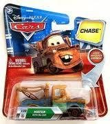 Disney / Pixar CARS TOON 155 Die Cast Car Mater with Oil Can Chase Piece! - 1