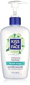 Kiss My Face Moisture soap germsaside tea tree  9 oz pack 6
