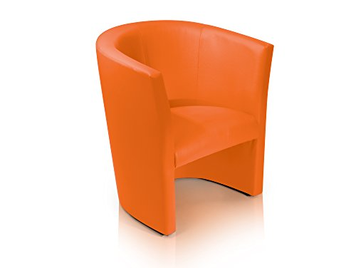 CHARLY-Sessel-Cocktailsessel-im-Lederlook-orange