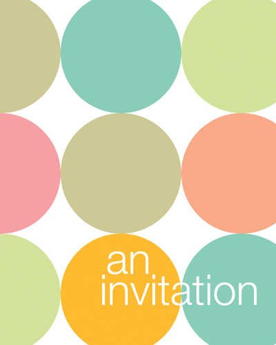 Creative Converting Fun Dots Party Invitations, 8 Count
