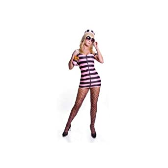 Sexy Celebrity Prisoner (pink) Costume Adult Halloween Size Medium