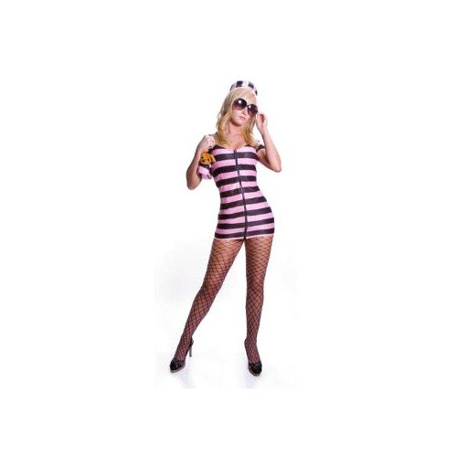 Sexy Celebrity Prisoner (pink) Costume Adult Halloween Size Small