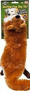 As Seen on TV Crazy Critter Stuffing Free Dog Toy (Fox) (3-Pack)