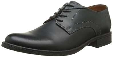 Clarks Fincy Walk, Chaussures de ville homme - Noir (Black Leather), 41 EU (7 UK)