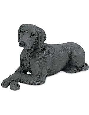 WEIMARANER DOG Figurine Lays w paws crossed