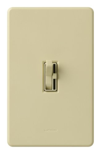 Lutron Tg-600Pnlh-Iv Toggler 600W Preset Dimmer With Nightlight Ivory