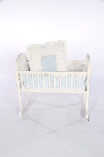 Baby Doll Bedding Ruth Cradle Bedding Set, Blue