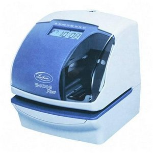 Lathem Time 5000EP 5000E Plus Electronic Time Recorder/Document Stamp/Numbering Machine, Cool Gray (Electric Time Stamp Machine compare prices)