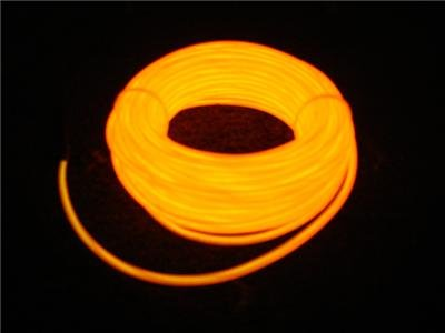 5m ORANGE EL WIRE Neon LIGHTING Tube GLOW Decoration Car UK