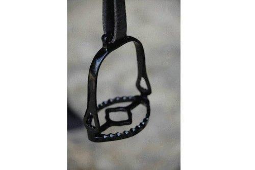 Steigbügel portugiesische Art schwarz