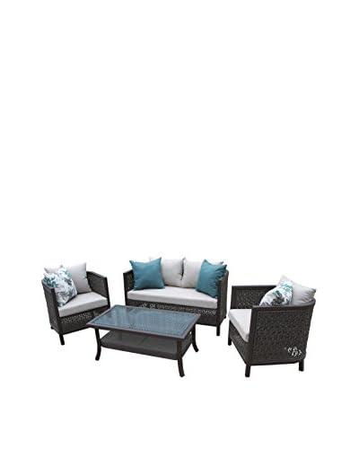 AE Outdoor Carlsbad 4-Piece Deep Seating Set, Grey