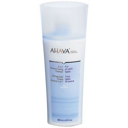 AHAVA 3-In-1 Mineral Toning Cleanser, 8.5-Ounce Bottle