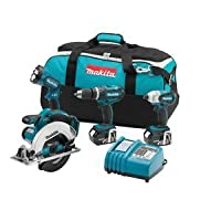 Makita LXT405 18-Volt LXT Lithium-Ion Cordless Combo Kit, 4-Piece from Makita