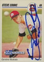 Steve Cooke Carolina Mudcats - Pirates Affiliate 1992 Skybox Pre-Rookie Autographed... by Hall of Fame Memorabilia