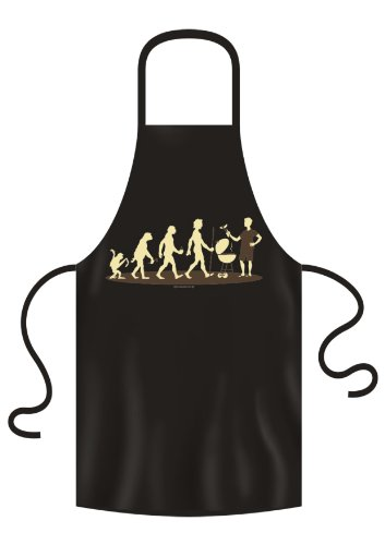 """NC -30 - Grembiule da cucina, motivo: """"Evoluzione degli arrosti"""""""