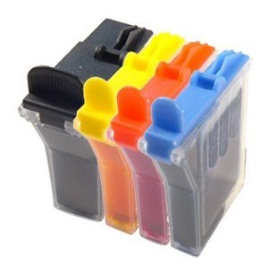 (4 Pack) Brother LC31 Compatibles Ink Cartridges, Black, Cyan, Magenta and Yellow.