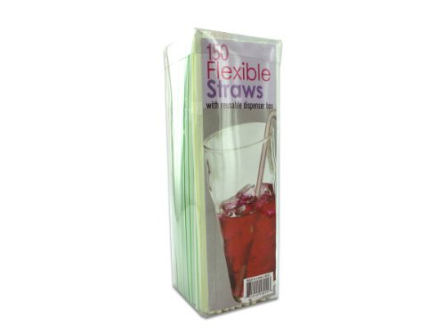 Flexible Straws With Dispenser Box
