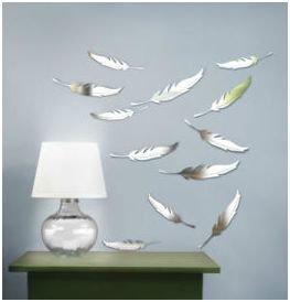 Umbra 470150 165 quill set 9 specchi decor adesivi decorazione da parete casa e cucina - Specchi da parete amazon ...