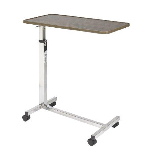 Drive Medical Tilt Top Overbed Table, Walnut front-1005551