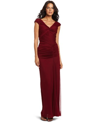Adrianna Papell Women's Cap Sleeve Twisted Front Gown