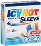 ICY HOT® (Maximum Strength) MEDICATED SLEEVE (Ankles, Elbows & Knees) Large 3 Sleeves