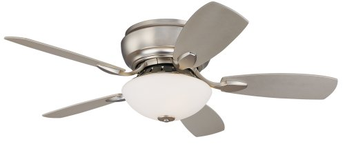 "44"" Casa Habitat? Brushed Steel Hugger Ceiling Fan"