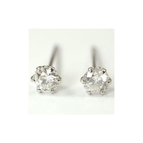 [キュートジュエリー]Cute jewerly プラチナ ダイヤモンド ピアス プラチナ・ダイヤモンド0.3ct スタッドピアス 【ギフトラッピング済み】