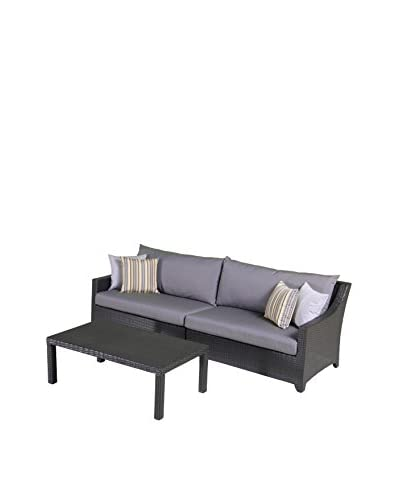 RST Brands Deco 2-Piece Sofa With Coffee Table Set, Grey