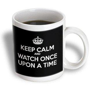 3Drose Mug_200911_1 Keep Calm And Watch Once Upon A Time Ceramic Mug, 11-Ounce