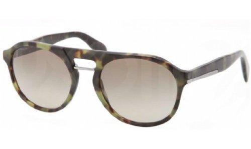 pradaPrada PR09PS Sunglasses-NAJ/1X1 Matte Green Havana (Brown Gradient Lens)-51mm