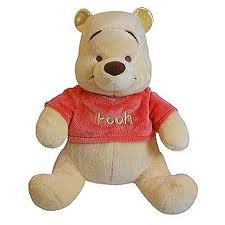 Disney Baby Winnie the Pooh Rattle Plush Bear - 1