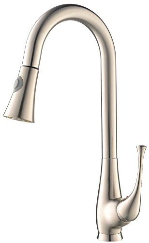Find Discount KINGO HOME Touch On High Arch Single Handle Pull Down Pull Out Brushed Nickel Prep Kit...