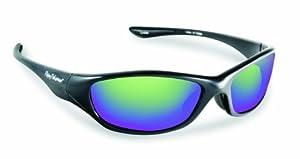 Flying Fisherman 7735BA Cabo Polarized Sunglasses, Shiny Black Frame, Amber/Green Mirror Lenses