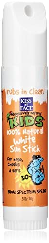 Kiss My Face Kids Mineral Sun Stick White SPF 30 0.5 Ounce