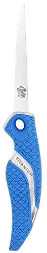 Cuda 4-Inch Titanium Bonded Flex Fillet Knife, Blue