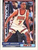 Kenny Anderson New Jersey Nets 1992 Topps Autographed Hand Signed Trading Card -... by Hall+of+Fame+Memorabilia