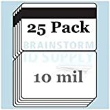 """10 Mil Gloss Butterfly Pouch Laminates with 1/2"""" HiCo Magnetic Stripes - 25 Pack"""