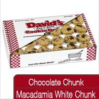 Davids Cookies 120314 Pre-Formed Frozen Cookie Dough Choc chunk/ Mac Wht Chunk