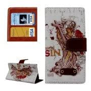 Goddess Pattern Horizontal Flip Leather Case with Card Slots Holder for Sony Xperia Z3 / D6653