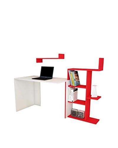 Minar Librería Breed E Blanco/Rojo