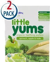Plum Organics Little Yums Organic Teething Wafers -- 18 Wafers Each / Pack of 2