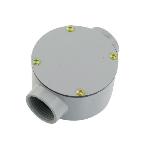 """Dimart G1"""" Two Straight Hole Connecting Metal Round Water-Proof Junction Box W Pads"""