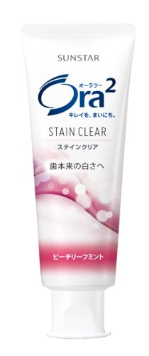 ora2-ora2-stain-clear-paste-peach-leaf-mint-standing-tube-130g-quasi-drugs