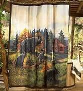 Black Bear Lodge Shower Curtain Hooks By Avanti