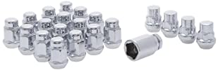 White Knight 791709SAM Chrome Finish 14mm x 1.50 Thread Size Bulge Acorn Lug Nut Wheel Installation Kit with Wheel Lock, (Pack of 16)