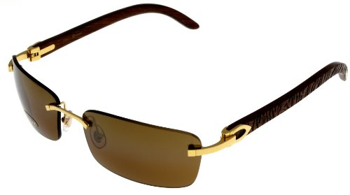 Cartier Sunglasses C Decor Rimless Unisex Wood T8200728