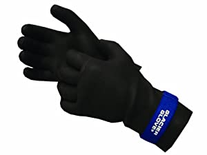 Glacier Glove Premium Waterproof Glove, Black/Blue, Medium
