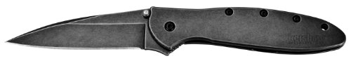Sale!! Kershaw 1660BLKW Leek Folding Knife with BlackWash SpeedSafe